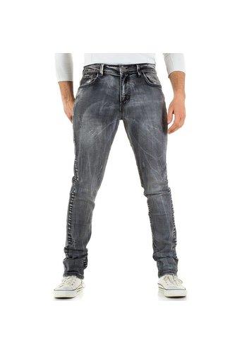 Heren Jeans Black Ace - grey