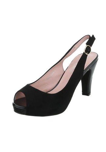 Dames Peeptoes - zwart