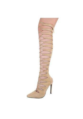 Dames laarzen - beige