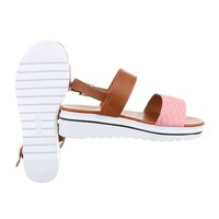 Damen Sandalen - pink/brown