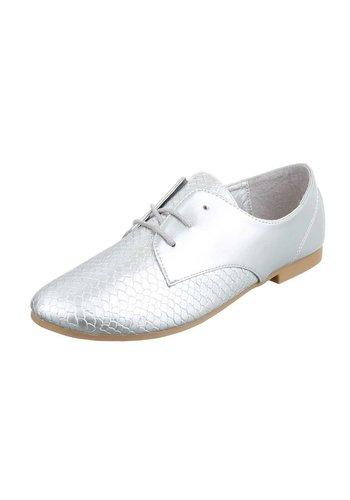 Dames veterschoenen - Zilver