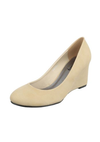 Dames sleehakken - beige