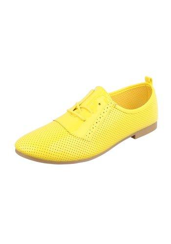 Dames veterschoenen - geel