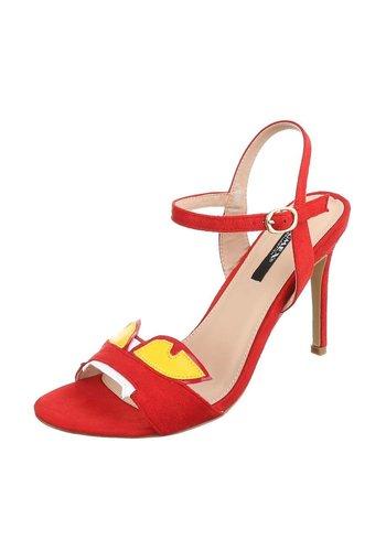 Dames hoge hakken - rood