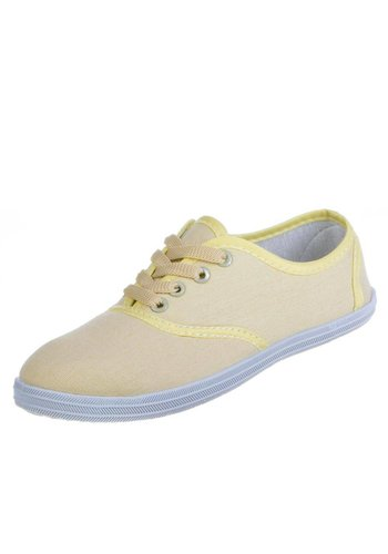 SUPER ME Dames Sneakers - Beige