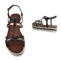 Damen Sandaletten - black/Bronze