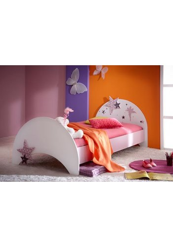 Maxbedden Kinderbed Fee (90 x 200) Wit, lila
