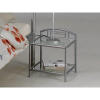 Twijfelaar bed Forte (140 x 200) Metaal grijs