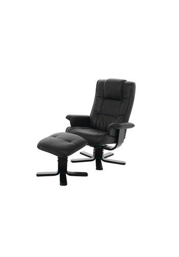 Maxliving Relaxstoel Timbo zwart Zwart