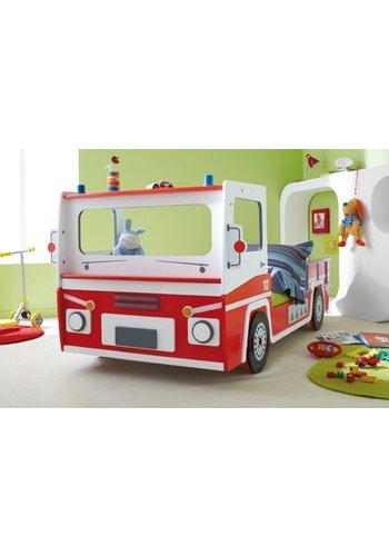 Maxbedden Kinderbed Brandweer SOS 112 Rood/wit