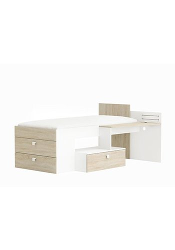 Maxbedden Kinderbed move (90 x 200) eiken Wit