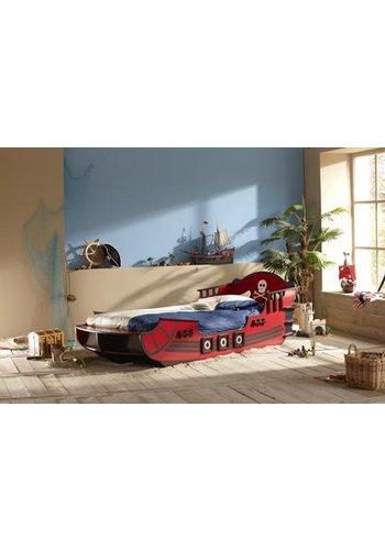Maxliving Kinderbed Crazy shark 90x190/200 Rood
