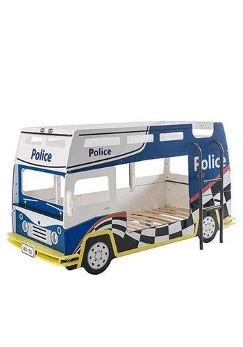 Maxliving Stapelbed politie Blauw/wit