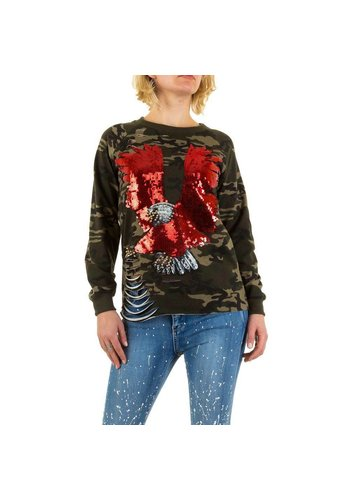 Emma&Ashley Design Dames Sweatshirt - camouflage