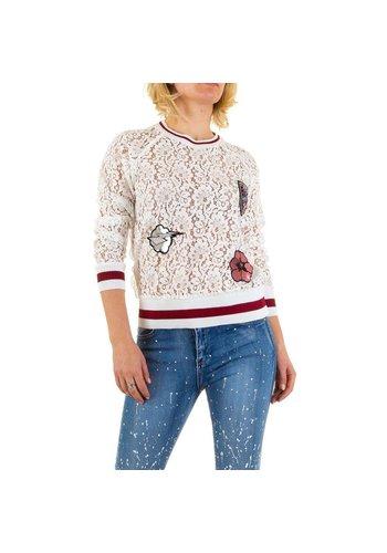 Emma&Ashley Design Damen Sweatshirt von Emma&Ashley Design - white