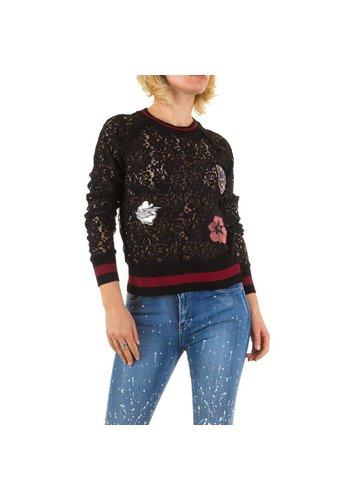 Emma&Ashley Design Dames Sweatshirt - Zwart