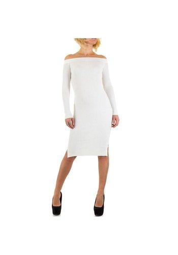 Jcl Paris Damen Kleid von Jcl Paris - white