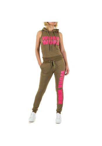 Emma&Ashley Design Dames Sportkleding - Leger groen