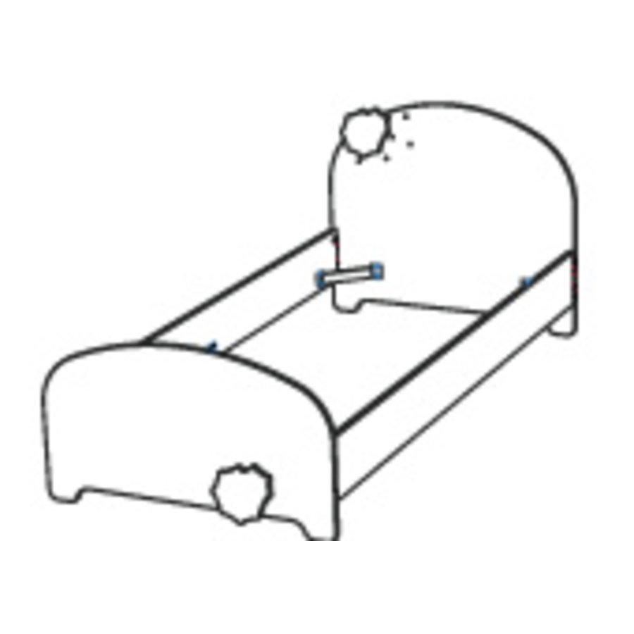 Eenpersoonsbed Flocons 90x200 Wit