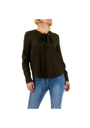 Noemi Kent Dames blouse - Donkergroen