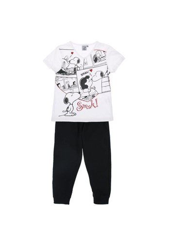 Snoopy Kinder Pyjama- Zwart
