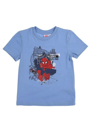 Spyderman Kinder T-Shirt - Blauw