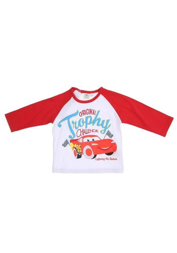 Disney Cars Kinder Langarmshirt - white