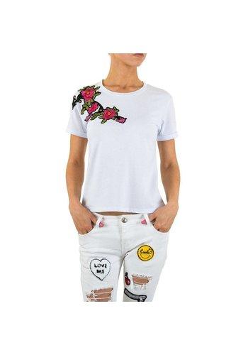 Dames T Shirt Gr S Wit