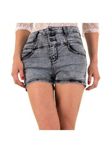 Daysie Jeans Dames Shorts van Daysie Jeans - grijs