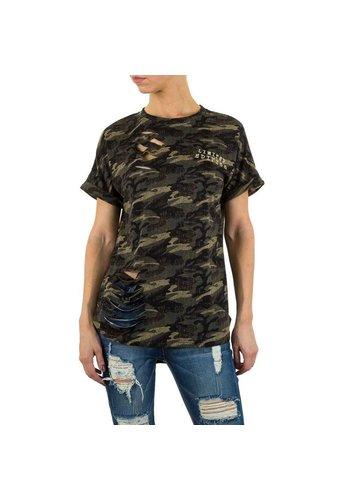 Noemy Kent Dames Shirt van Noemy Kent  - armygreen