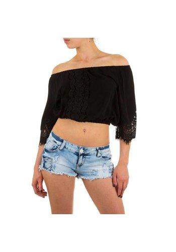 SHK MODE Dames Blouse van Shk Mode - Zwart