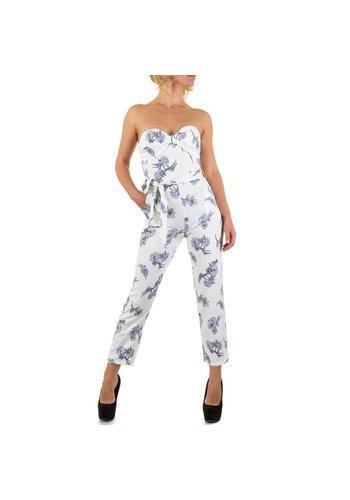 Neckermann Dames jumpsuit - wit