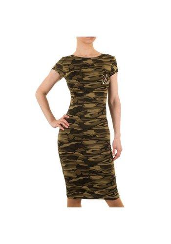 SHK MODE Dames jurk van Shk Mode - armygreen