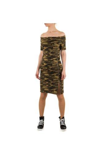SHK MODE Dames Jurk van Shk Mode - Leger groen