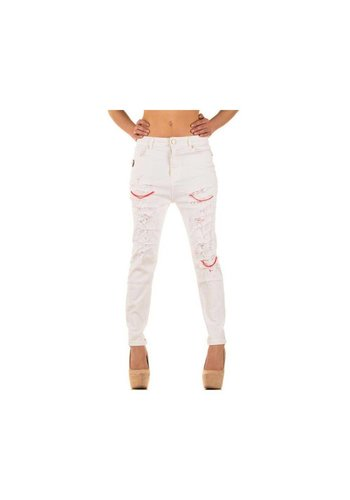 Simply Chic Dames Jeans van Simply Chic - Wit