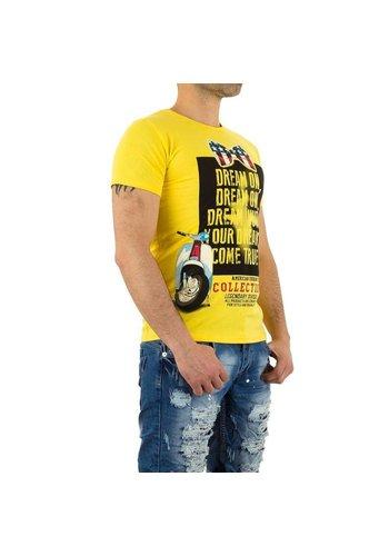 X - Man Heren T-Shirt van X-Man - Geel