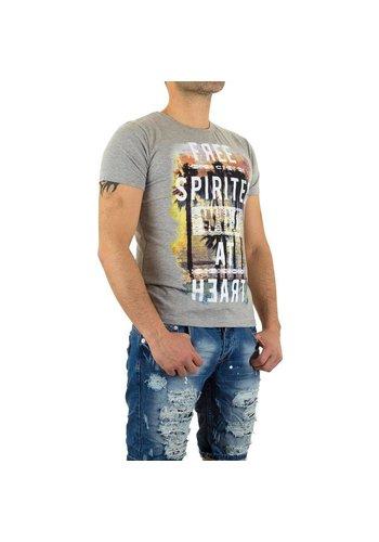 X - Man Heren T-Shirt van X-Man - Grijs