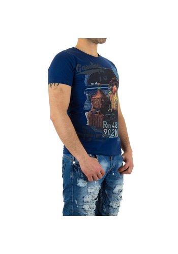 X-Man Heren T-Shirt van X-Man - Blauw