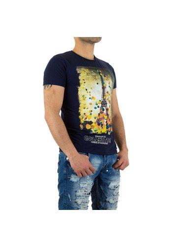 X-Man Mannen T-shirt van X-Man - Donkerblauw