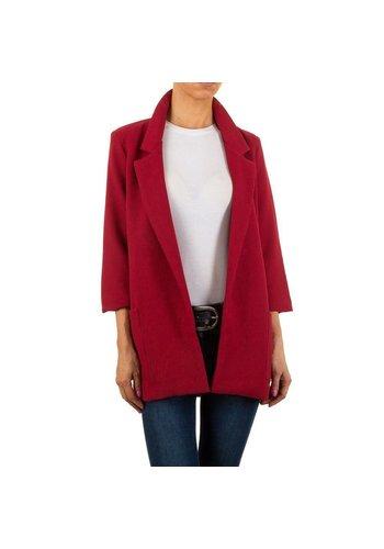 HF-Fashion Dames blazer - rood
