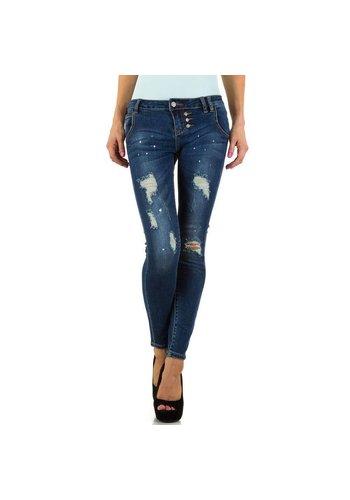 Farfalina Dames Jeans van Farfalina - Blauw