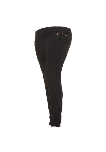 Holala Plus size dames broek - zwart