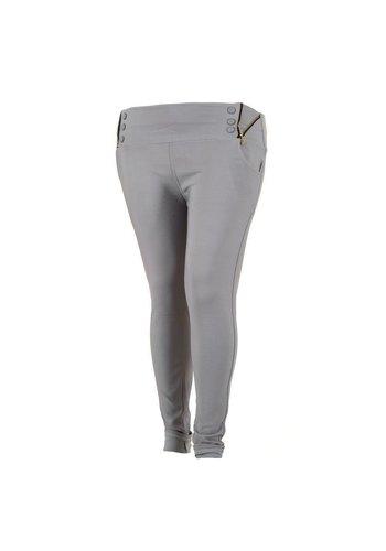 Holala Plus size dames broek - grijs