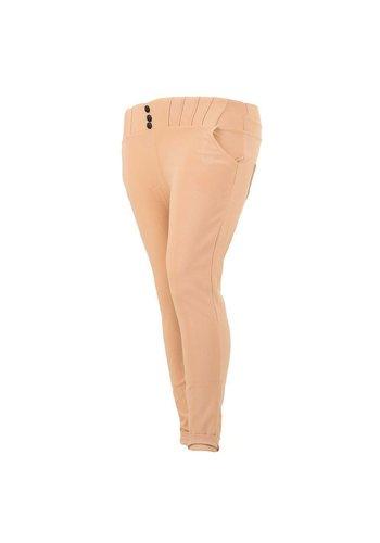 Holala Plus size dames broek - roze