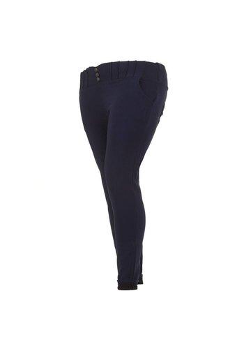 Holala Plus size dames broek - blauw