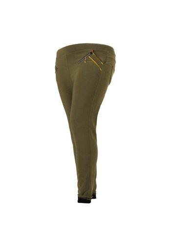 Holala Plus size dames broek - khaki