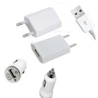 Mini USB Ladegerät + Auto Ladegerät für iPhone