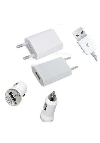 Neckermann Mini chargeur USB + chargeur voiture pour iPhone