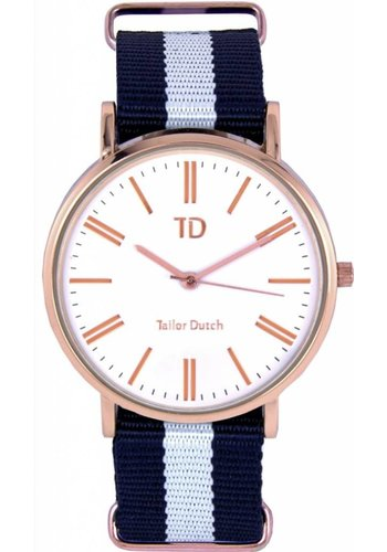 Tailor Dutch Tailor Dutch horloge rose goud wit