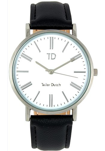 Tailor Dutch Tailor Dutch horloge witte kast - leer